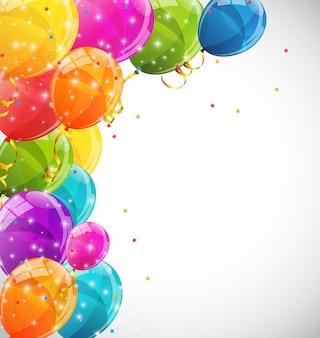 Kleur glanzende ballonnen