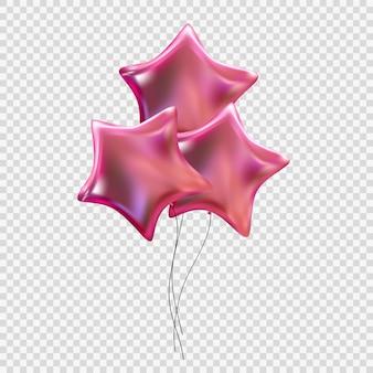 Kleur glanzende helium ballonnen geïsoleerd op transparante achtergrond. vectorillustratie eps10