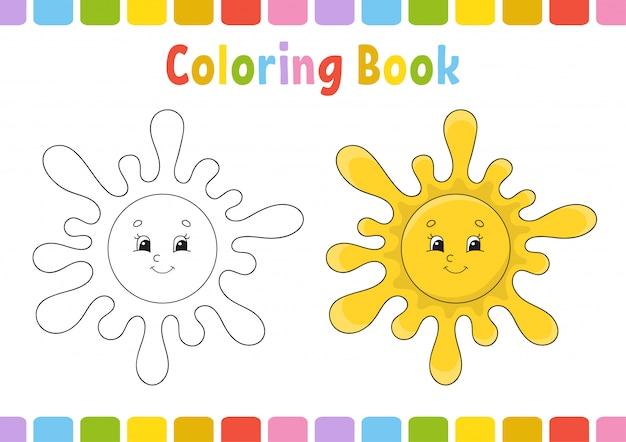 Kleur het werkblad van de zon