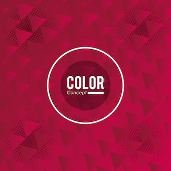 Kleur kaart concept