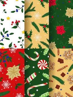 Kleur kerstsjablonen