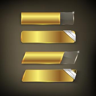 Kleur knop goud glanzend