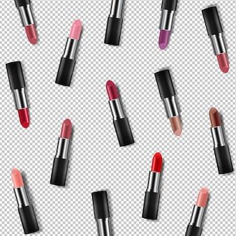 Kleur lipsticks poster transparante achtergrond met verloopnet