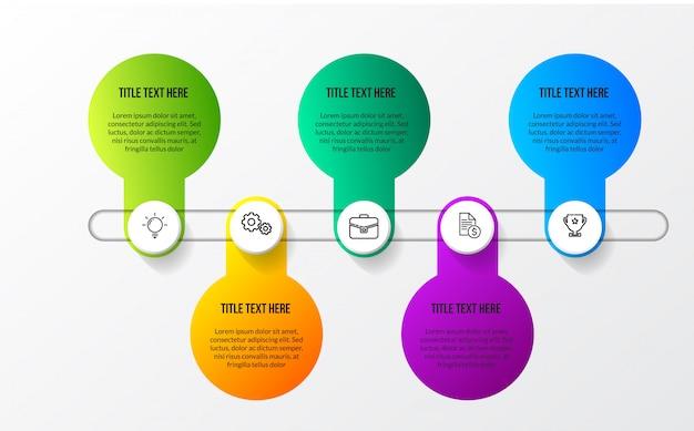 Kleur moderne infographic