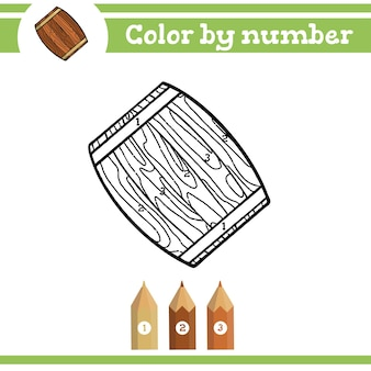 Kleur op nummer kleurplaat voor kleuters leer cijfers voor kleuterscholen en scholen