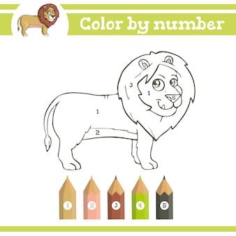 Kleur op nummer kleurplaat voor kleuters leren nummers educatief spel