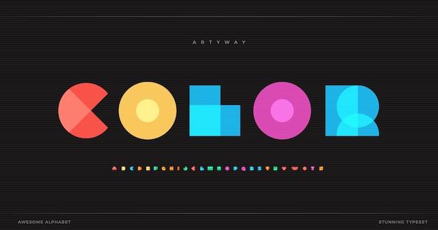 Kleur overlapt decoratieve teksteffectsjabloon