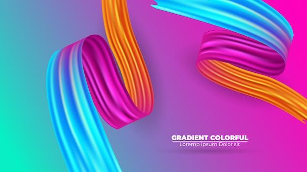 Kleur penseelstreek olie of acrylverf achtergrond modern