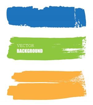 Kleur penseelstreken