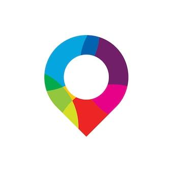 Kleur pin-logo