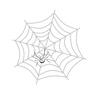 Kleur spiderweb thema vector kunst grafische illustratie