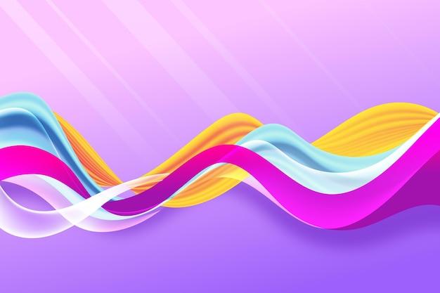 Kleur stroom achtergrondontwerp