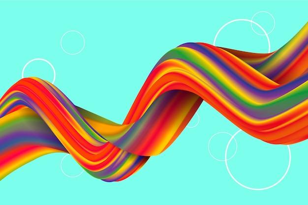 Kleur stroom behang