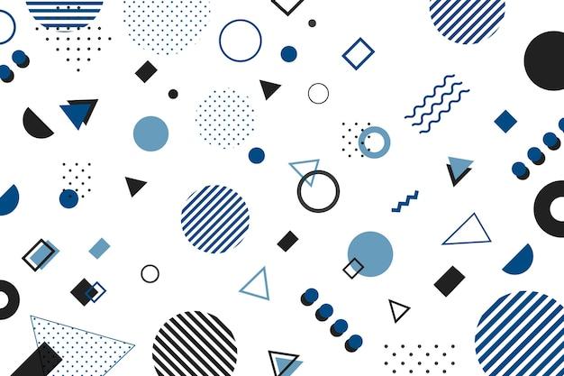 Kleur van de geometrische achtergrond van het jaar 2020