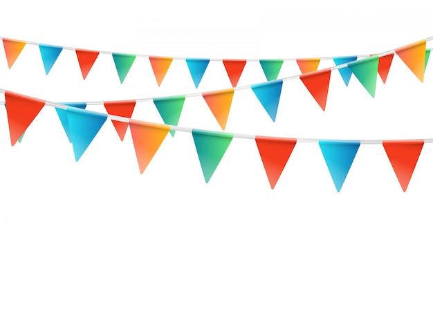 Kleur vlaggen slinger illustratie