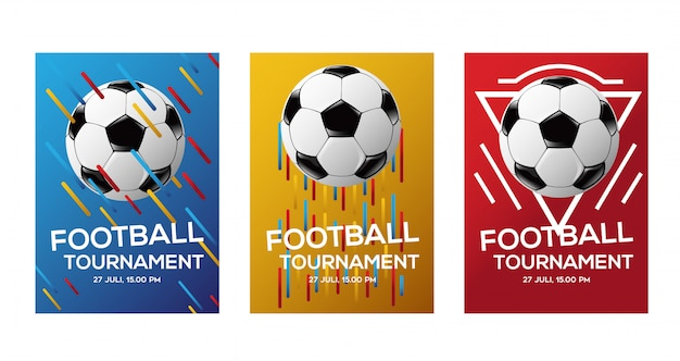 Kleur voetbal toernooi flyer achtergrond