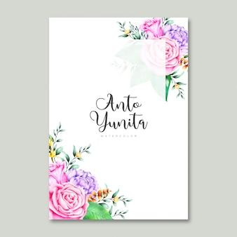 Kleur volledige uitnodigingskaart in aquarel