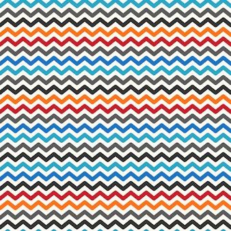 Kleur zigzag naadloos patroon