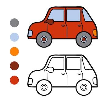 Kleurboek voor kinderen, car
