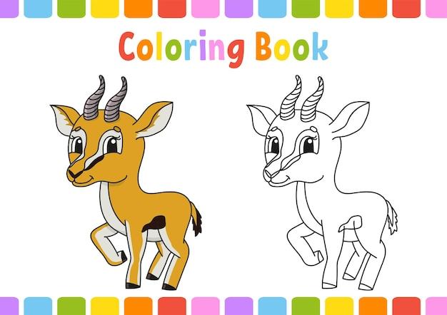 Kleurboek voor kinderen gazelle