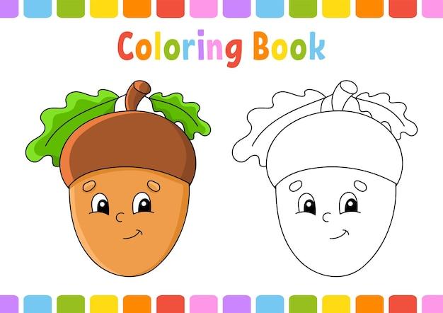 Kleurboek voor kinderen herfstthema