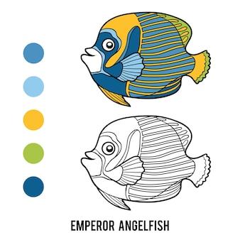 Kleurboek voor kinderen, keizer maanvis