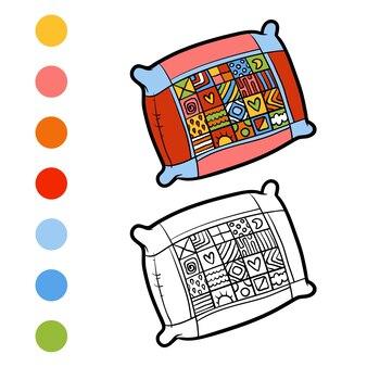 Kleurboek voor kinderen, kussen