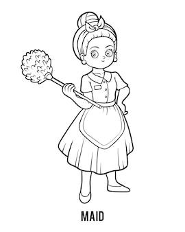 Kleurboek voor kinderen, maid