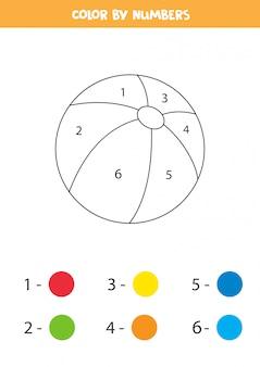 Kleurboek voor kinderen met schattige cartoon speelgoedbal.