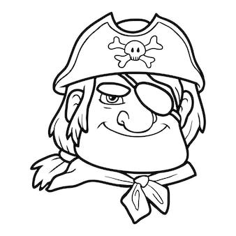 Kleurboek voor kinderen, piraat