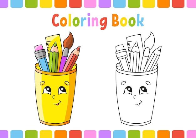 Kleurboek voor kinderen terug naar school thema
