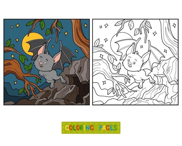 Kleurboek voor kinderen, vampiervleermuis
