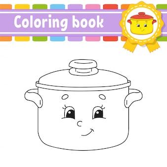 Kleurboek voor kinderen. vrolijk karakter. illustratie.