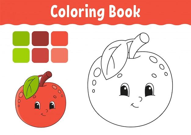 Kleurboek voor kinderen. vrolijk karakter.