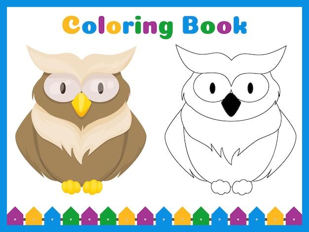 Kleurboek voor kleuters met eenvoudig educatief spelniveau. kleurplaat voorschoolse activiteit.