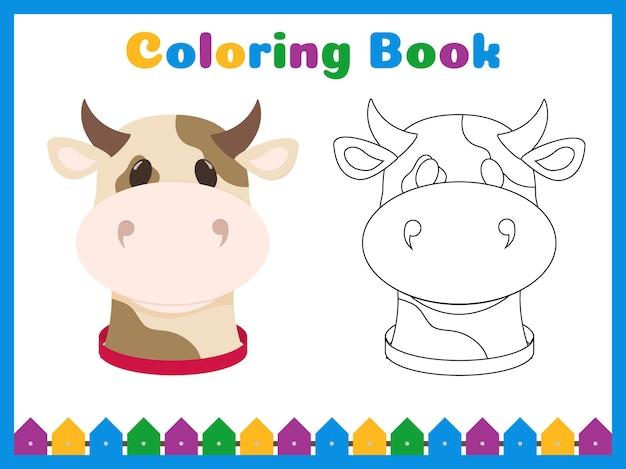 Kleurboek voor kleuters met eenvoudig educatief spelniveau.