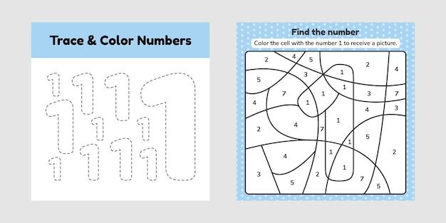 Kleurboeknummer voor kinderen.