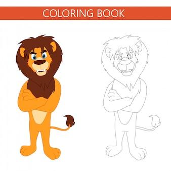 Kleurboekpagina's leeuw cartoon