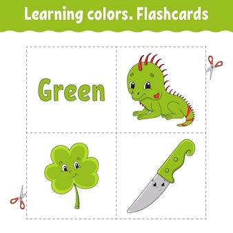 Kleuren leren. flashcard voor kinderen.