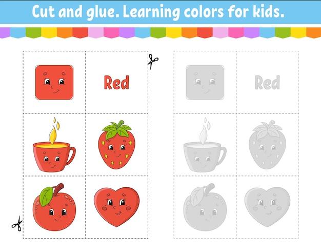 Kleuren leren voor kinderen. knippen en spelen.