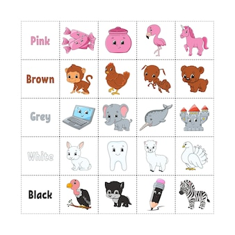 Kleuren leren voor kinderen knippen en spelen