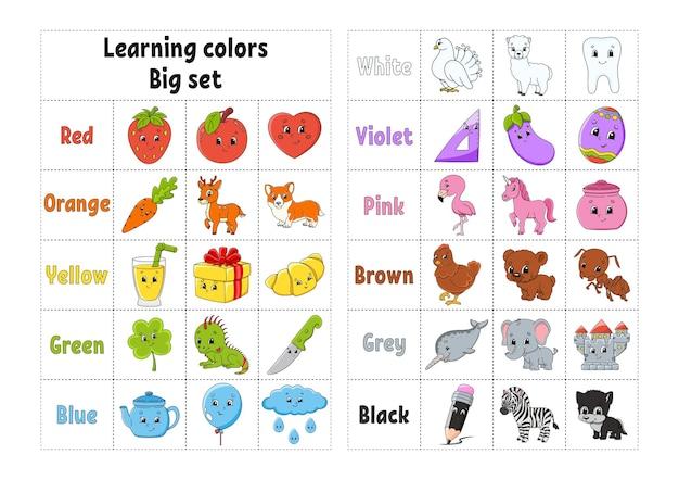 Kleuren leren werkblad voor onderwijsontwikkeling