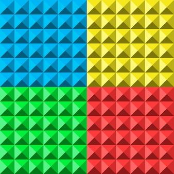 Kleuren piramide naadloos patroon