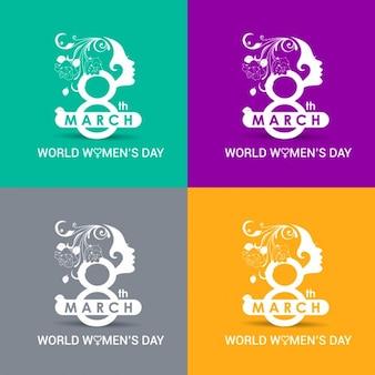 Kleuren wereld vrouwendag kaarten
