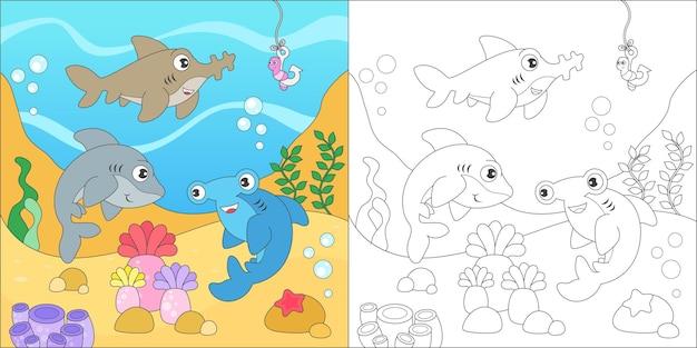 Kleurende haaienfamilie