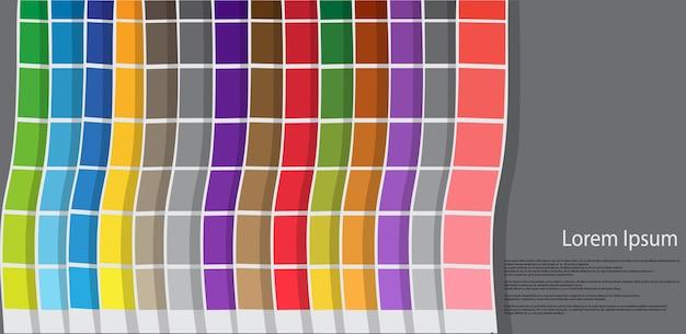 Kleurengids voor grafisch voor afdrukken