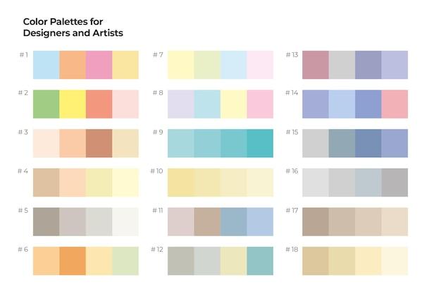 Kleurenpalet voor ontwerpers en kunstenaars
