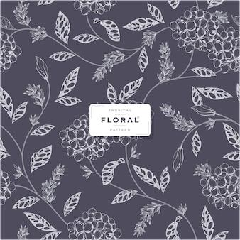 Kleurloos tropisch bloemen naadloos patroon