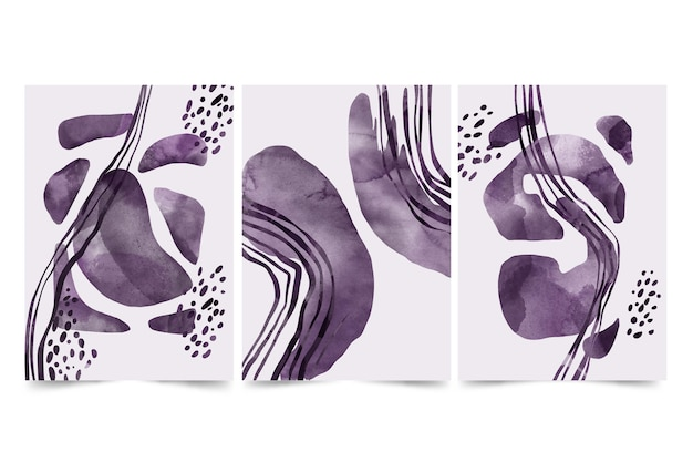 Kleurloze abstracte aquarel omslagcollectie