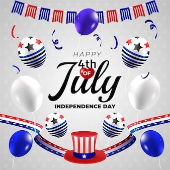 Kleurovergang 4 juli - onafhankelijkheidsdag illustratie